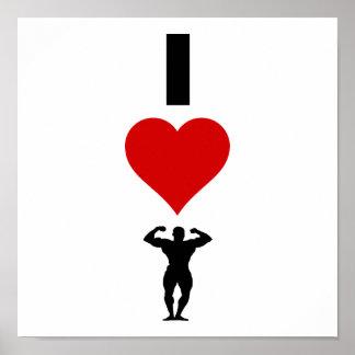Poster J'aime Bodybuilding (la verticale)