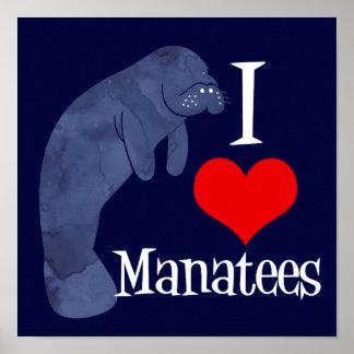 Poster J'aime des lamantins