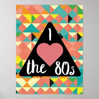 Poster J'aime la copie des années 80 !