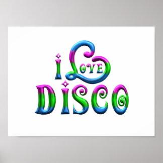 Poster J'aime la disco