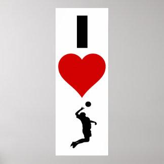 Poster J'aime la verticale de volleyball (le mâle)