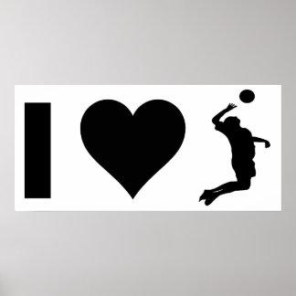 Poster J'aime le volleyball (le mâle)