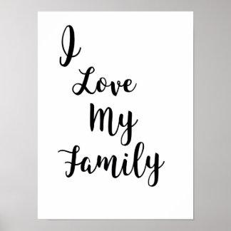 Poster J'aime mon affiche de famille
