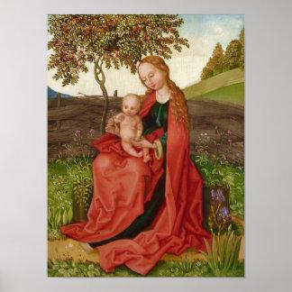 Poster Jardin de Vierge et d'enfant de Martin Schongauer