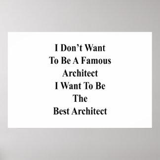 Poster Je ne veux pas être un architecte célèbre que je
