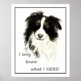 """Poster """"Je sais seulement ce que JE VIS EN TROUPE"""" la"""
