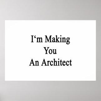 Poster Je vous fais un architecte