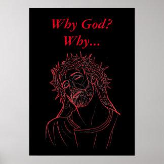 Poster Jésus-Christ avec la couronne des épines, pourquoi