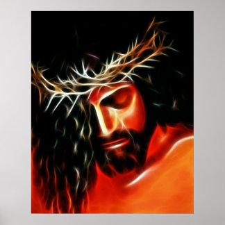 Poster Jésus-Christ pleurant pour vous