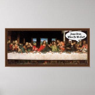 Poster Jésus-Christ quand nous mangeons ? - Dernier dîner