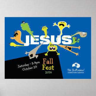 Poster Jésus effrayant