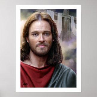 Poster Jésus est levé par la copie d'art de Carlos Maraz