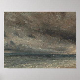 Poster John Constable - mer orageuse, Brighton