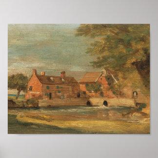 Poster John Constable - moulin de Flatford