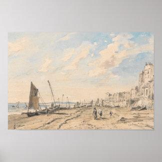 Poster John Constable - plage de Brighton semblant