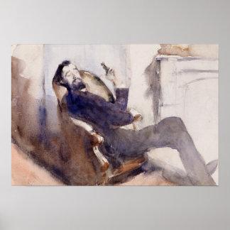 Poster John Singer Sargent - portrait de Paul-Cesar