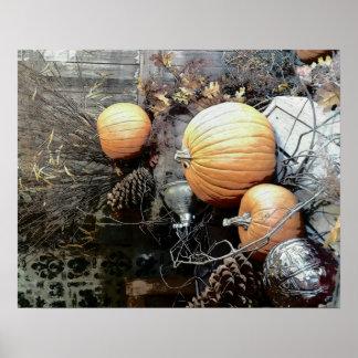 Poster Jolis dossiers de coutume de Pumkins d'automne