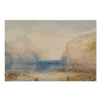 Poster Joseph Mallord William Turner - Fluelen - matin
