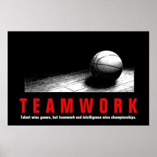 Poster Joueurs inspirés de citation de basket-ball de