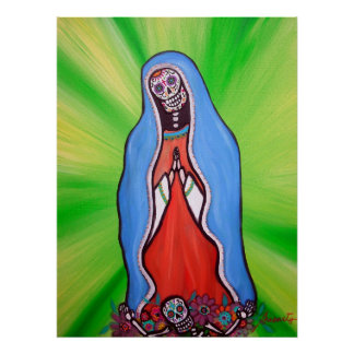 Poster Jour de Virgen Guadalupe de l'affiche morte