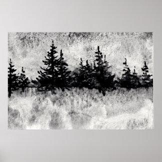 """Poster """"Jour gris sur"""" l'affiche pittoresque de paysage"""