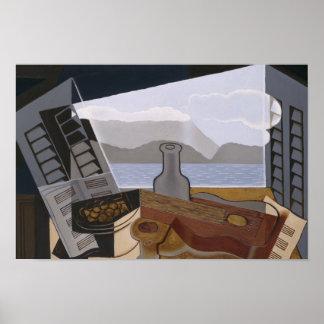 Poster Juan Gris - la fenêtre ouverte