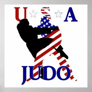 Poster Judo des Etats-Unis
