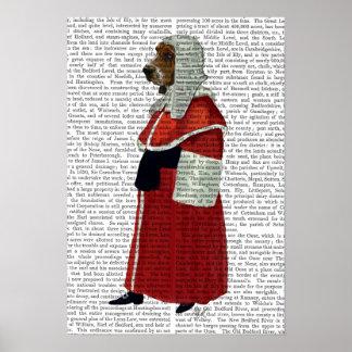 Poster Juge de Basset Hound plein