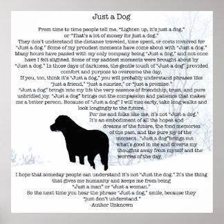 Poster Juste une citation de chien - Labrador noir