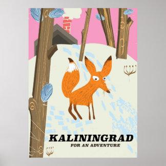 """Poster Kaliningrad affiche de voyage """"pour aventure"""""""