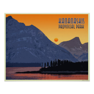 Poster Kananaskis, Alberta. Le Canada