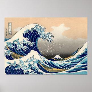 Poster KATSUSHIKA HOKUSAI - La grande vague outre de
