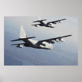Poster KC-130J au-dessus du Japon