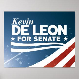 Poster Kevin De Léon pour le sénat