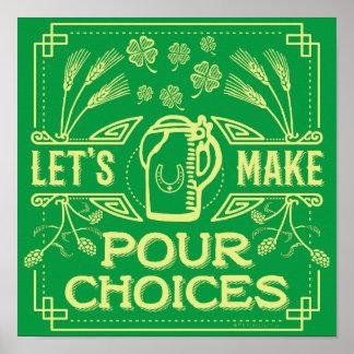 Poster La bière irlandaise de saint du jour drôle de