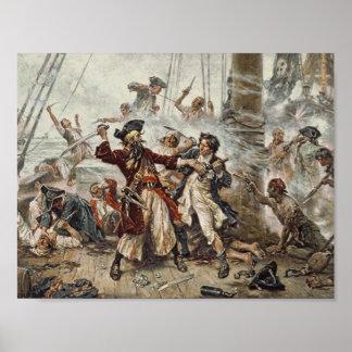 Poster La capture de Blackbeard le pirate