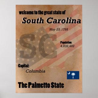 Poster La Caroline du Sud le classique d'état de Palmetto