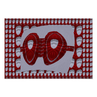 Poster La conception en soie rouge de soutien-gorge pour