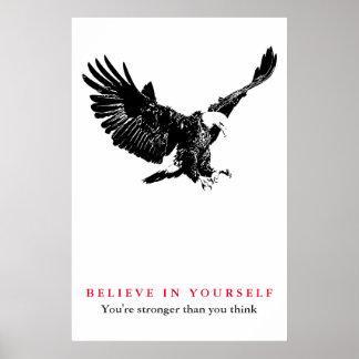 Poster La confiance de motivation d'Eagle croient en