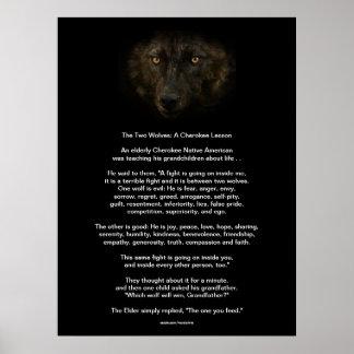 Poster La copie CHEROKEE de Natif américain de CONTE de