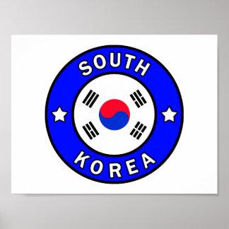 Poster La Corée du Sud