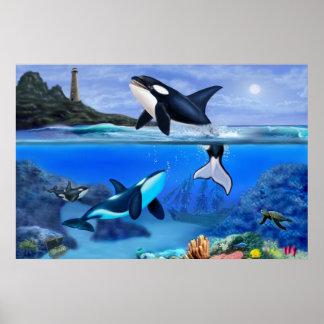Poster La famille d'orque