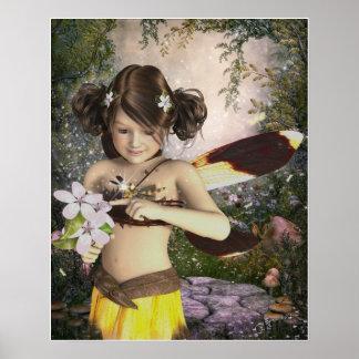 Poster La fée et la copie d'affiche de libellule