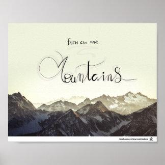 Poster La foi peut déplacer des montagnes