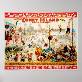 Poster La grande affiche de carnaval de l'eau de Coney