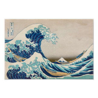 Poster La grande vague à la reproduction d'original de