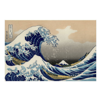 Poster La grande vague outre de Kanagawa