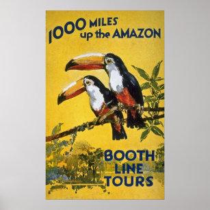 Poster La ligne de cabine voyage 1000 milles vers le haut