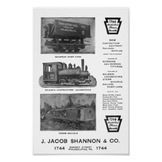Poster La locomotive de Baldwin fonctionne les