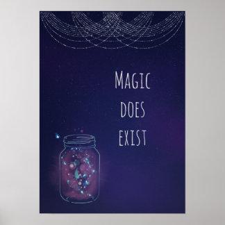 Poster La magie existe pot de luciole